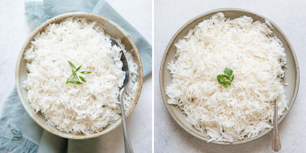 Trempage du riz basmati