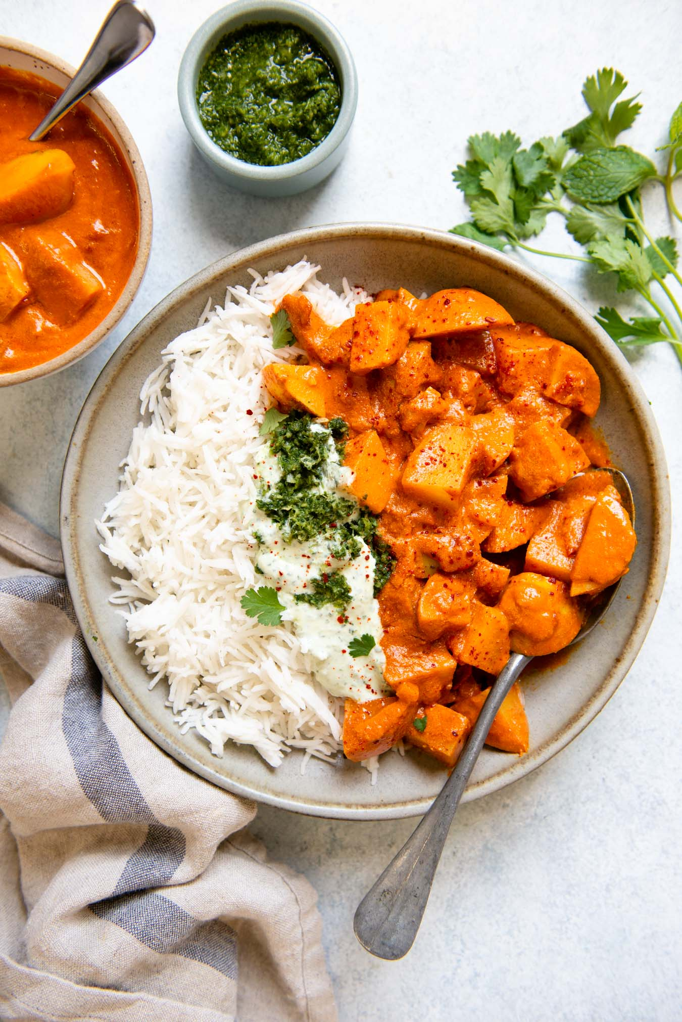 Riz basmati au curry de pommes de terre