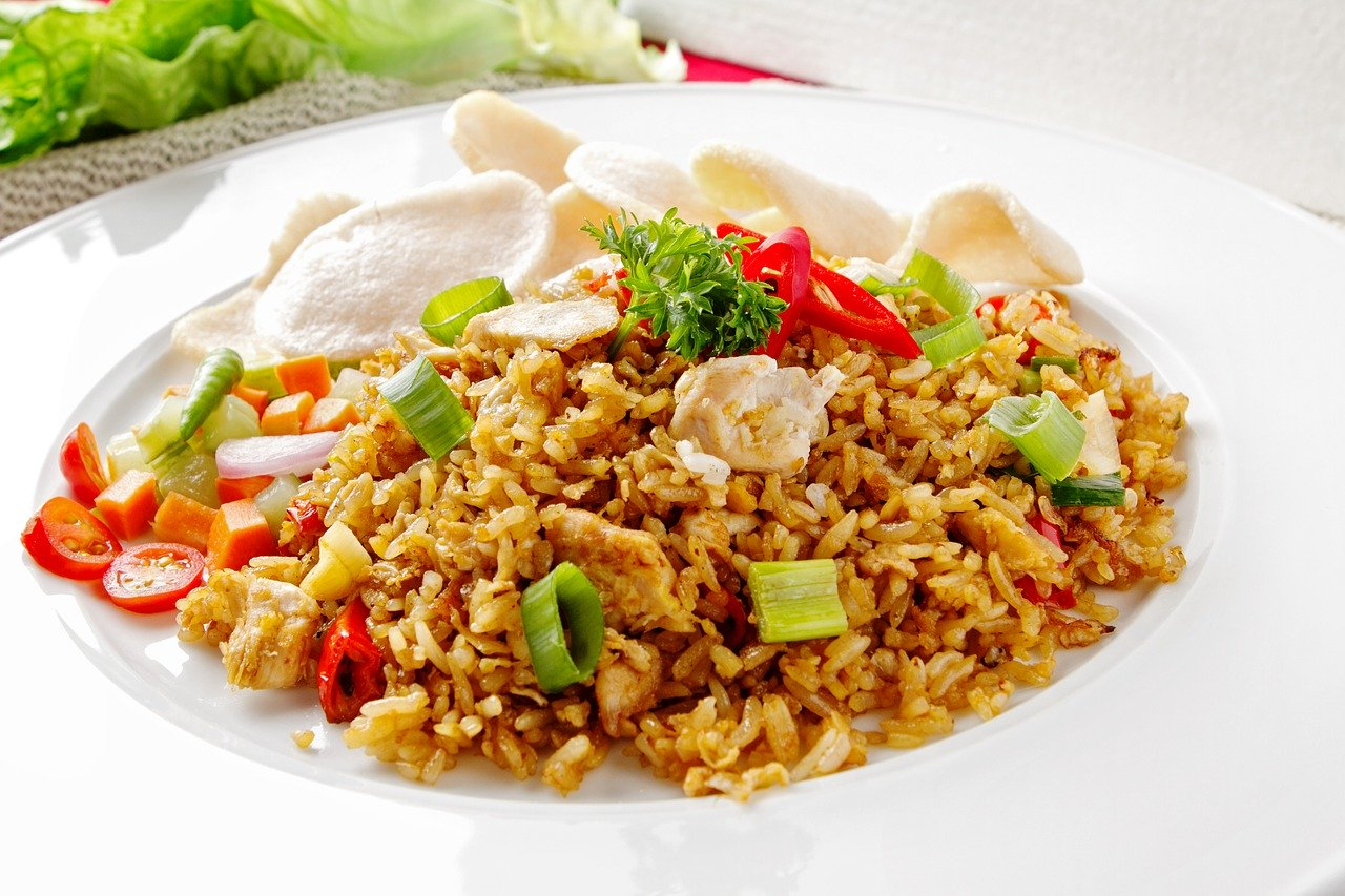 frit, riz, menu