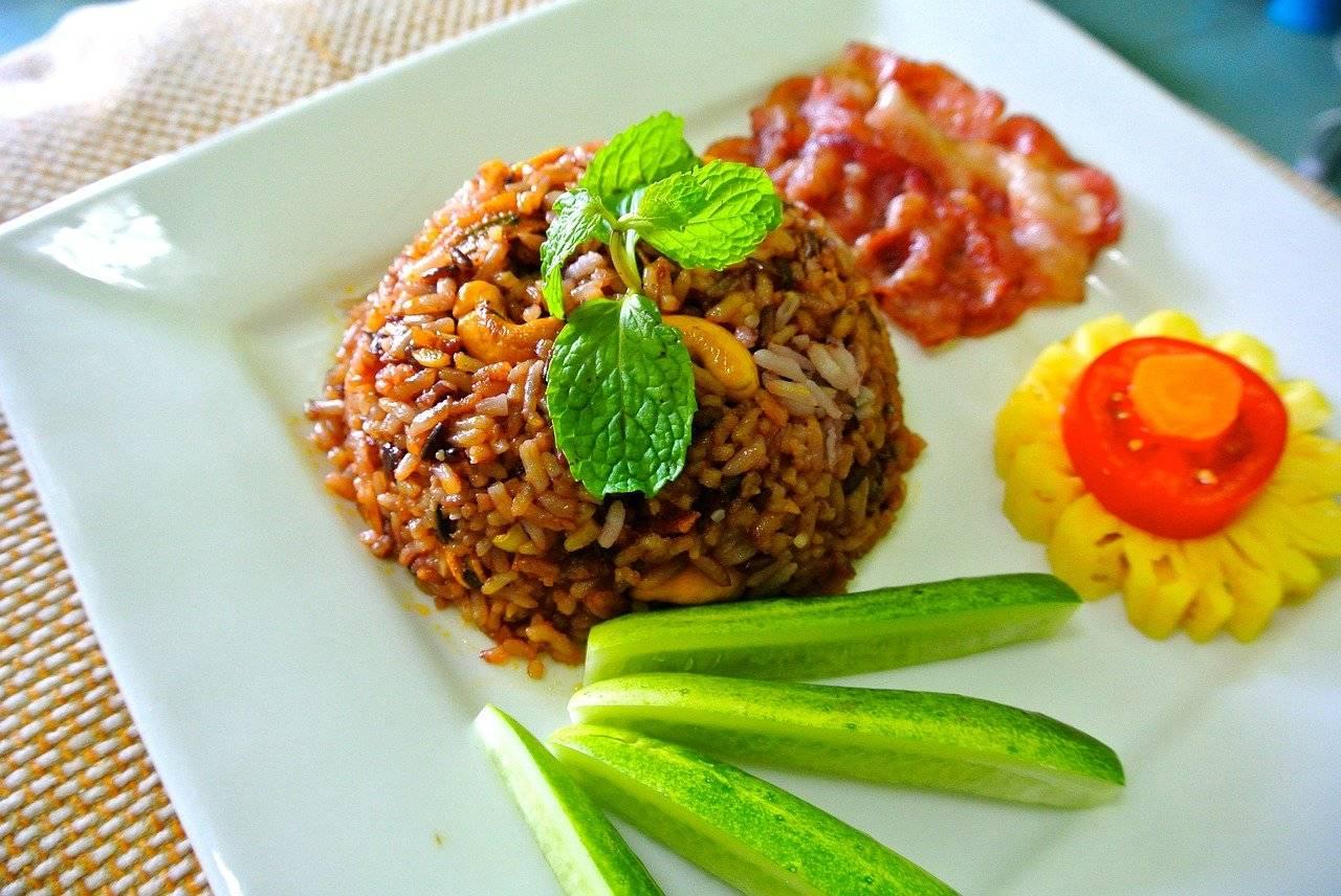 riz frit, riz, cuisine thaïlandaise