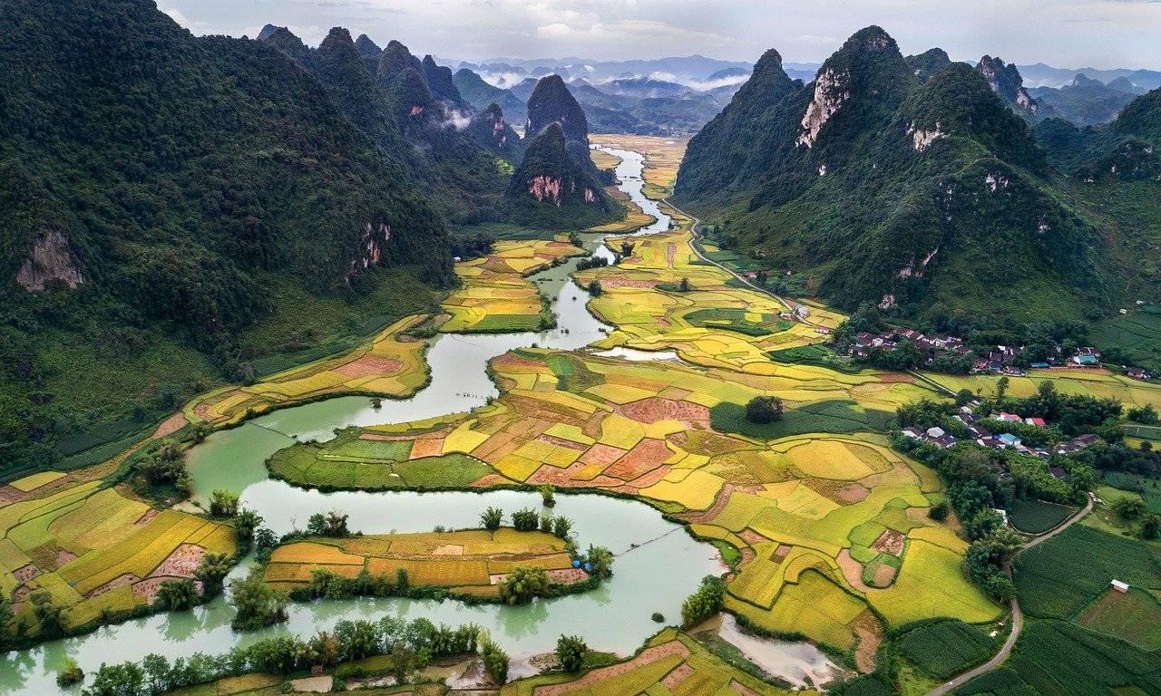 vue, paysage, nature