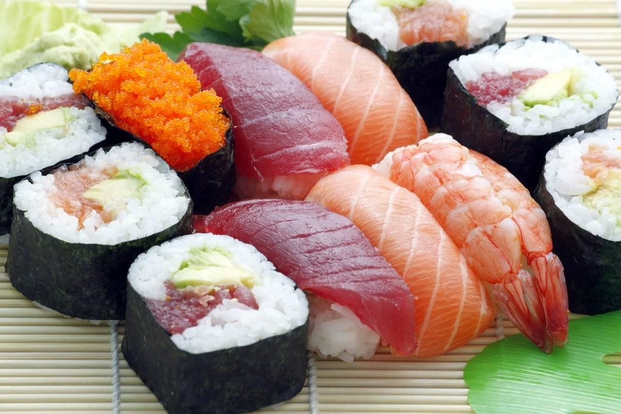 sushi, japonais, asie
