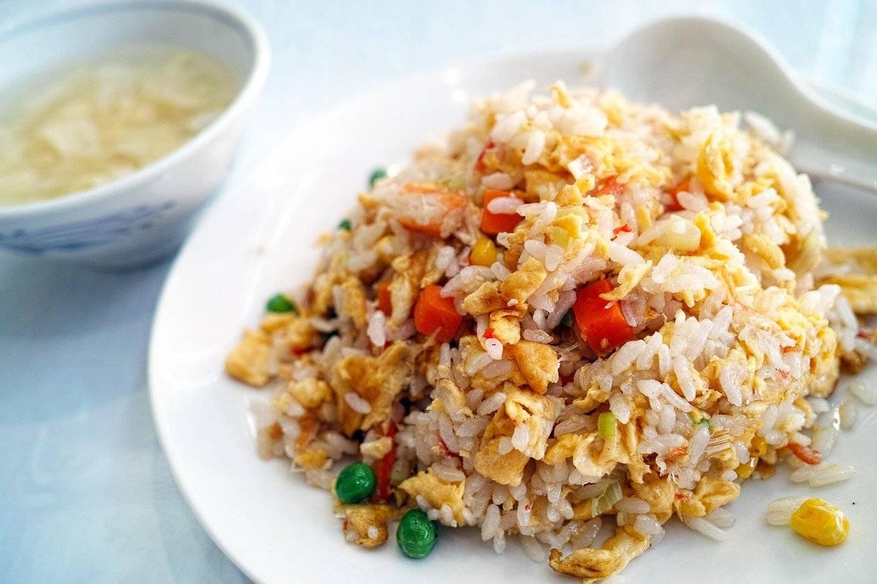 restaurant, chinois, riz frit