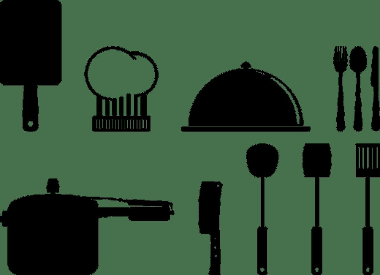 cuisine, ustensiles de, icônes