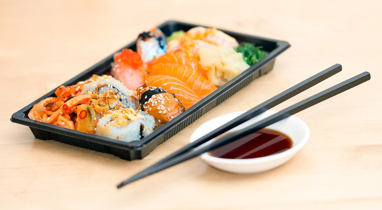 sushi, emporte, alimentaire