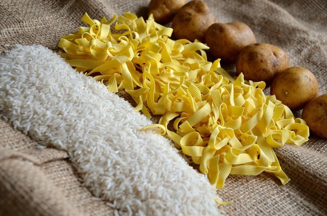 noodles, rice, potatoes