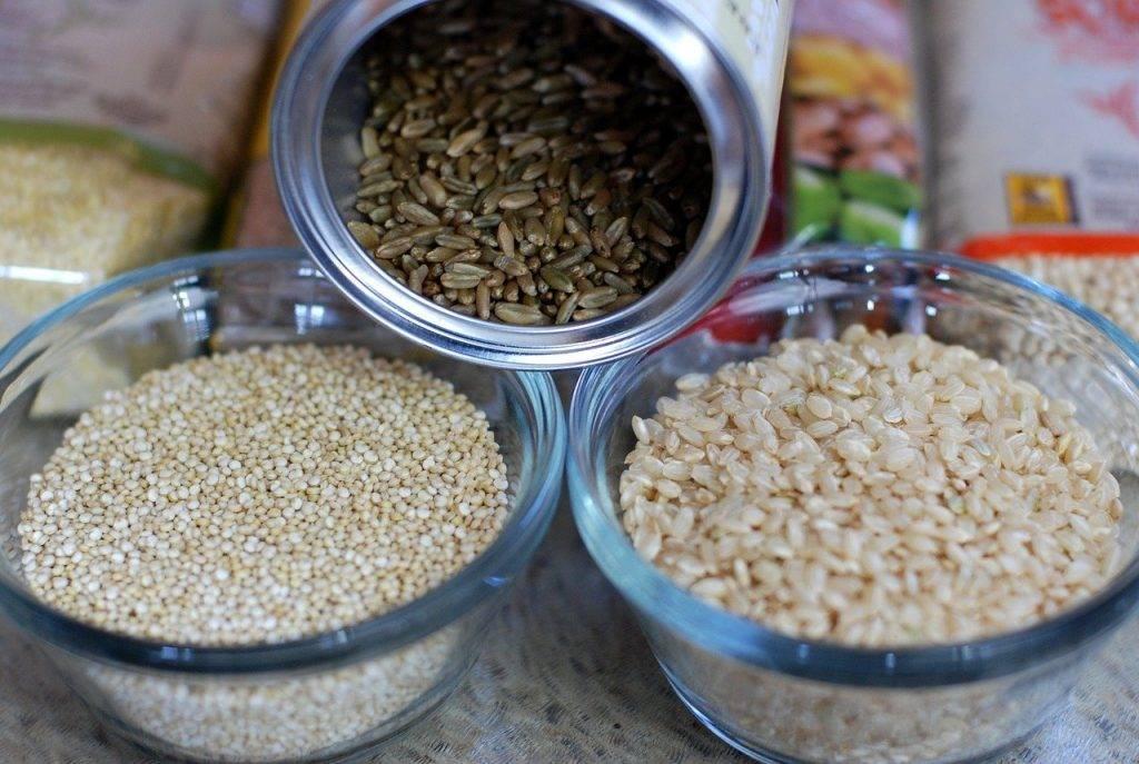 céréales, riz brun, quinoa