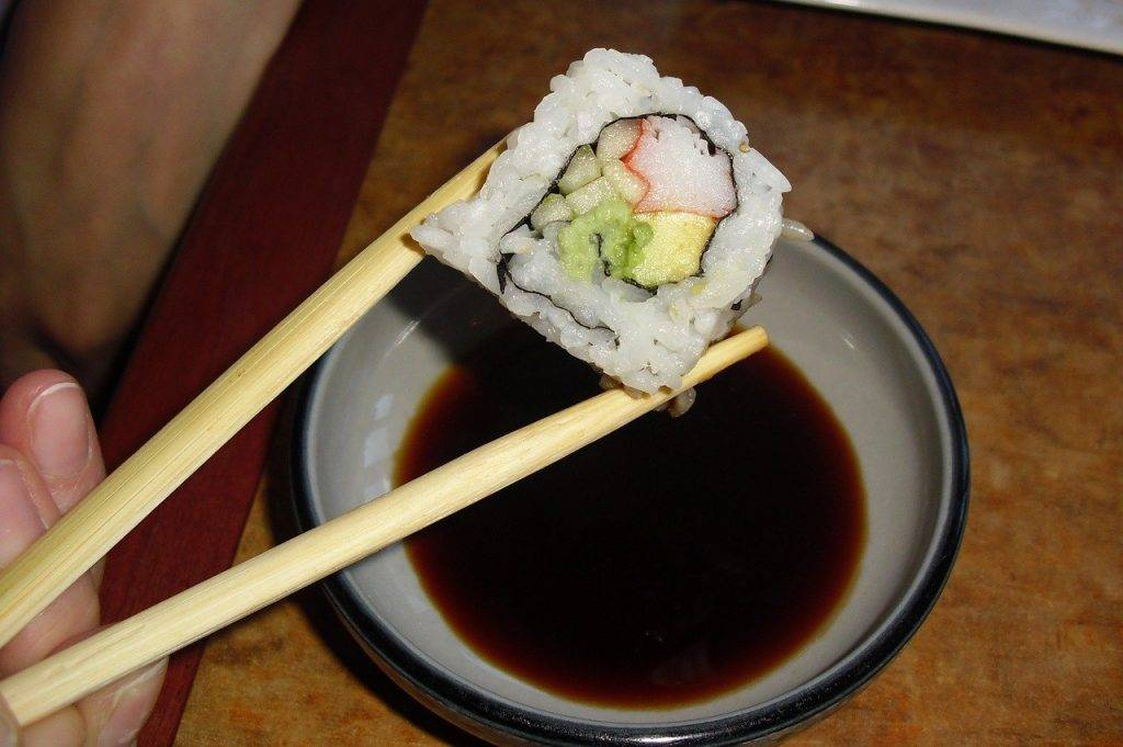sushi, japonais, baguettes