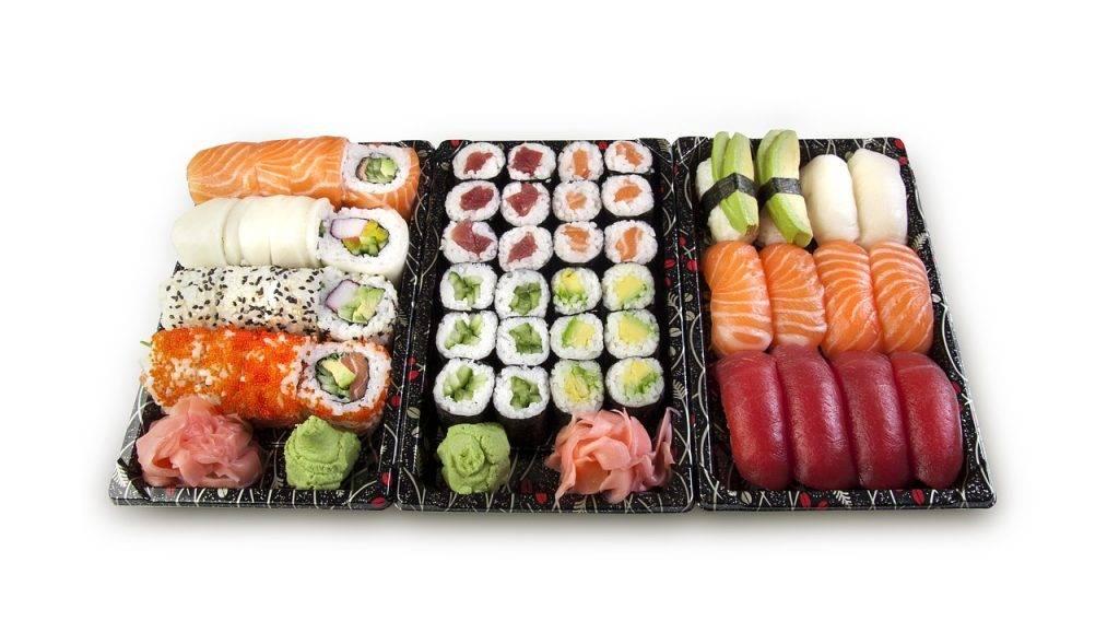 sushi, ensemble, nigiri