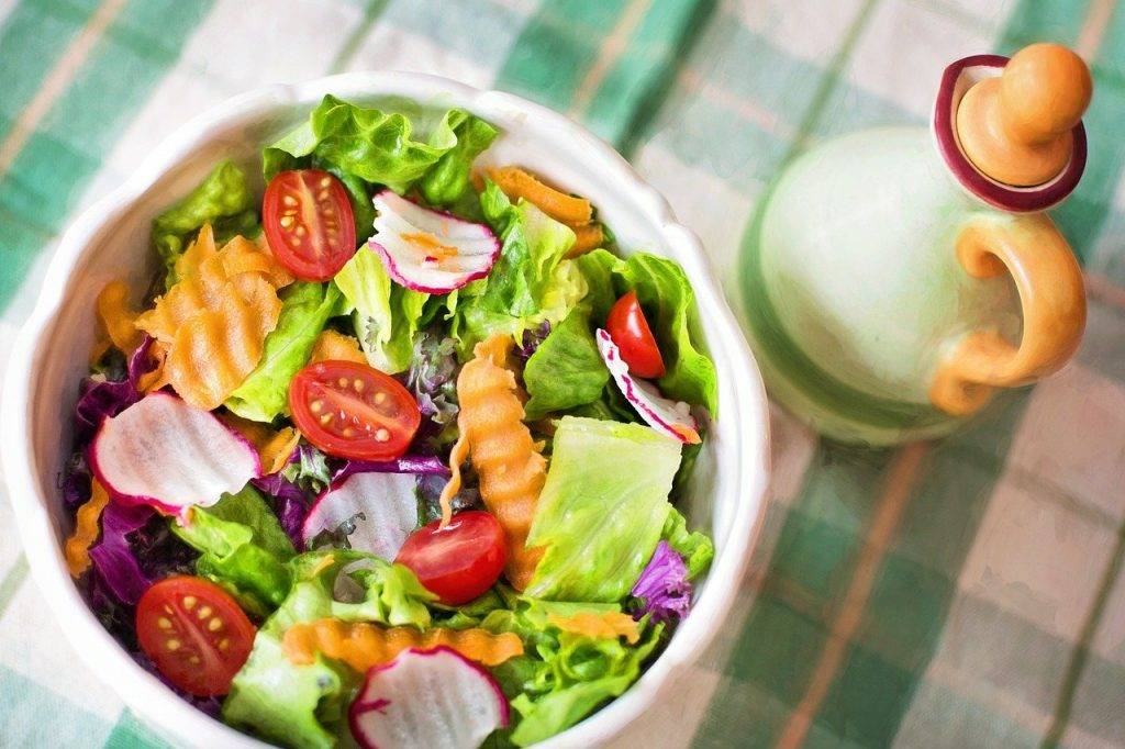 salade, frais, légumes