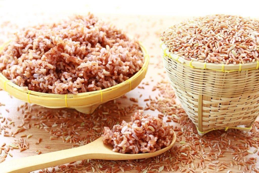 riz, brown, alimentaire