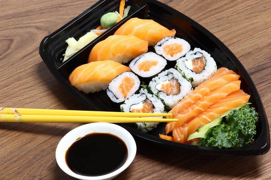 japon, sushi, poissons