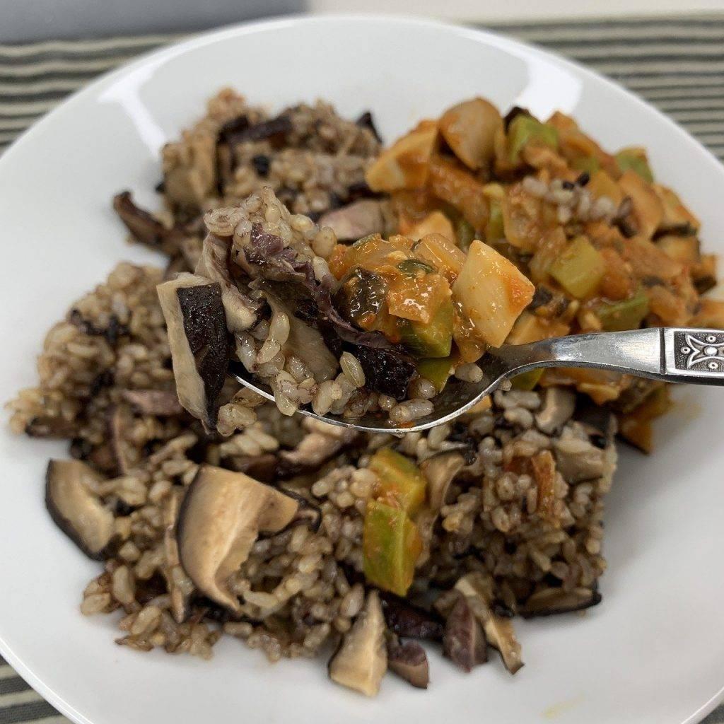 riz, champignon, alimentaire