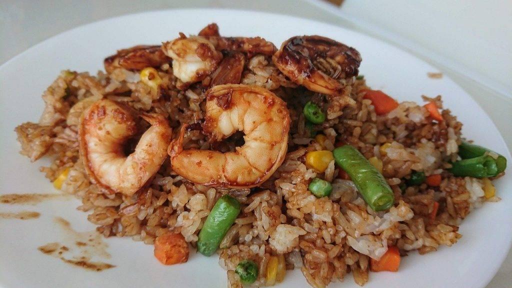 riz frit, alimentaire, riz