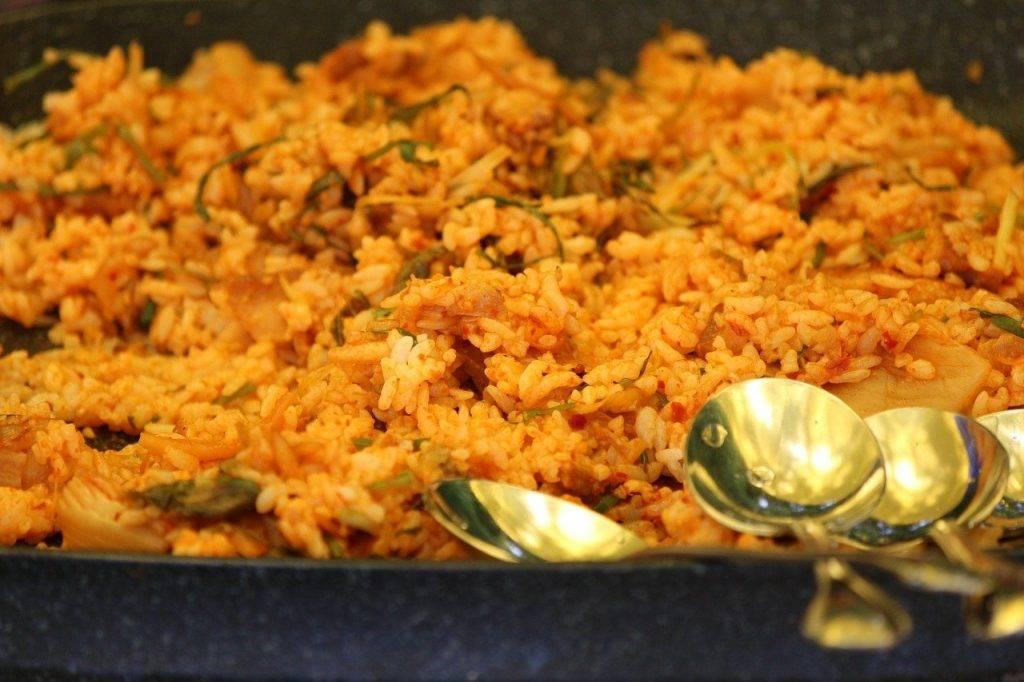 riz frit, cuisson, alimentaire
