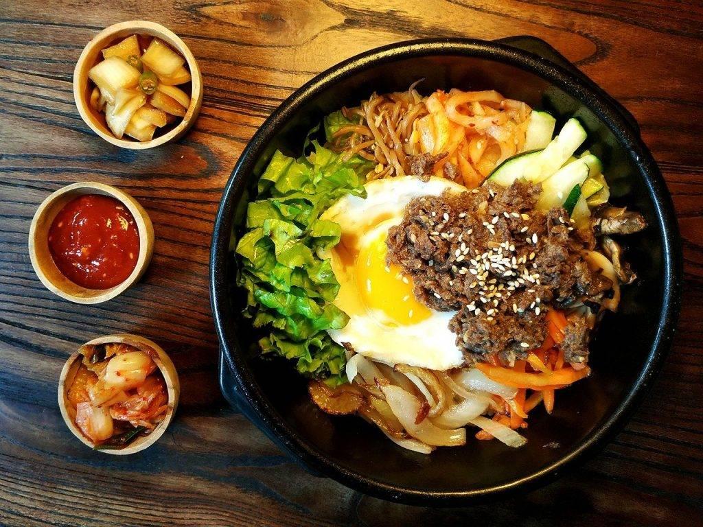 bibimbap, coréen, alimentaire