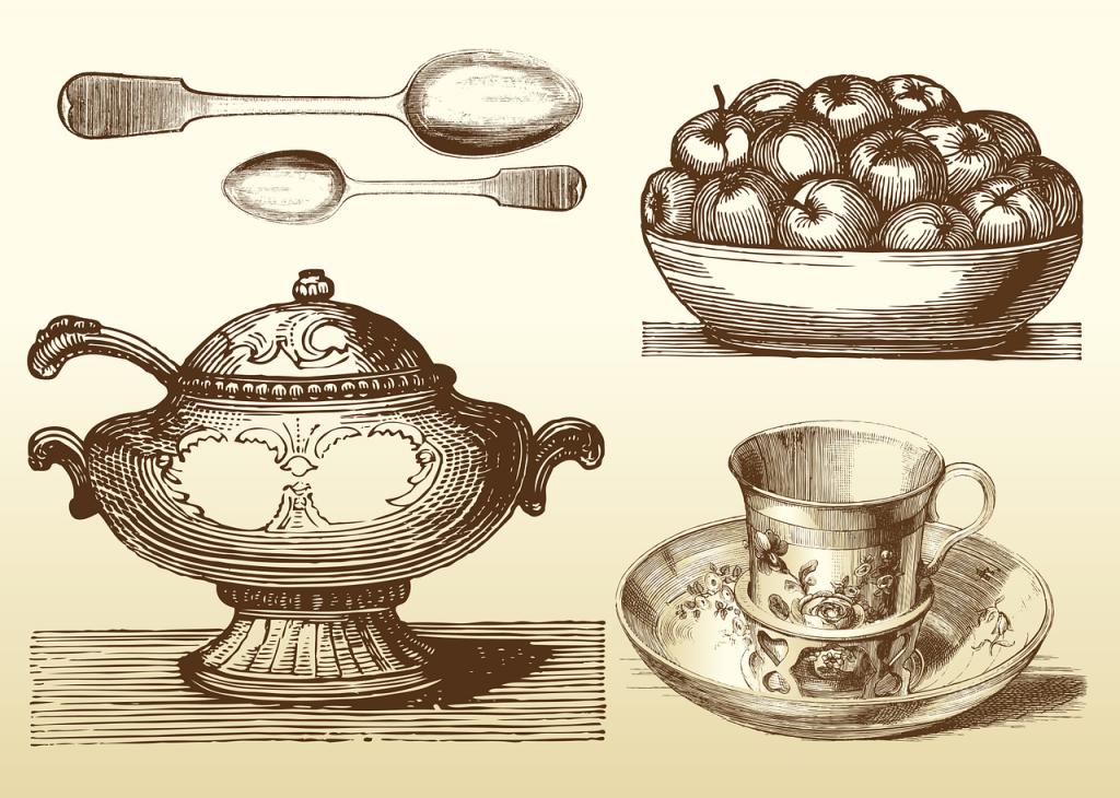 couverts, art de la table, cuillère