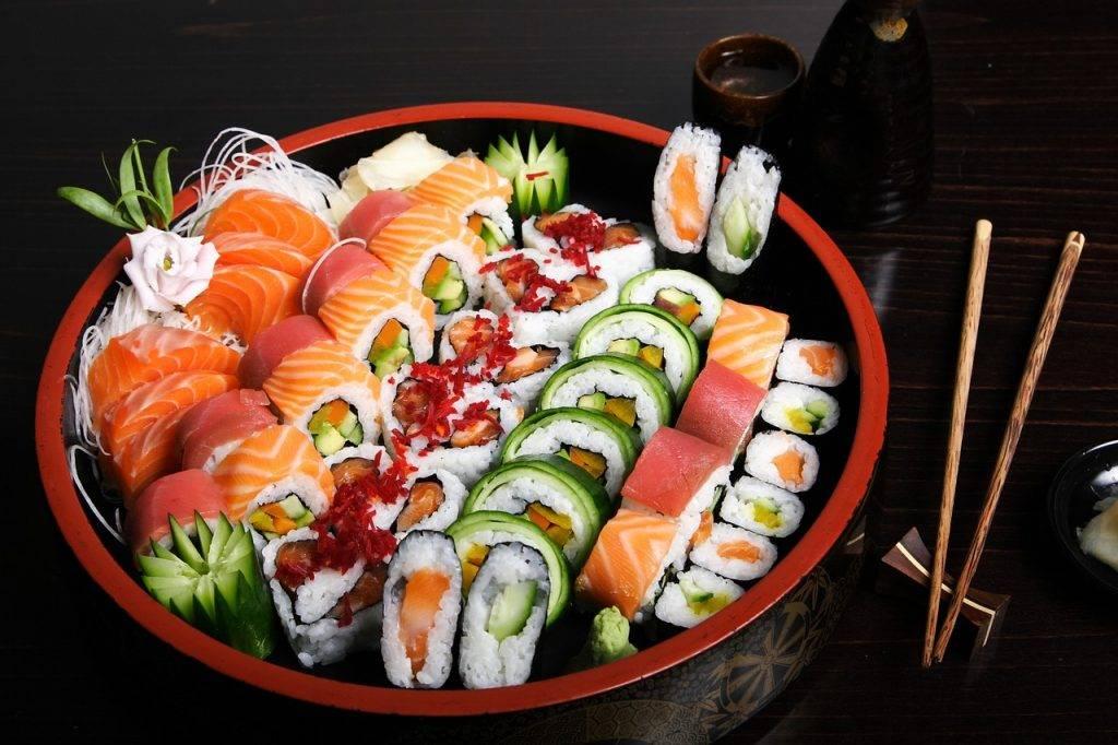 sushi, poisson, alimentaire