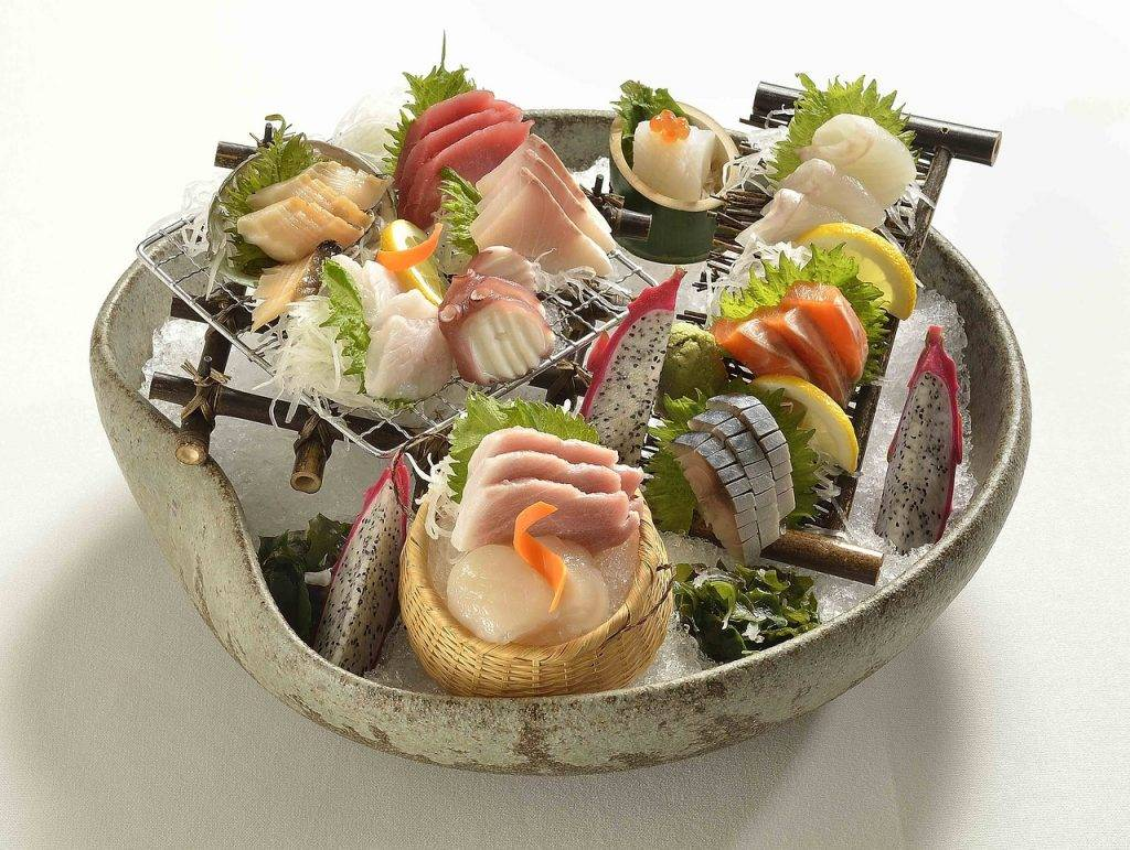 cuisine asiatique, sushi, fruits de mer