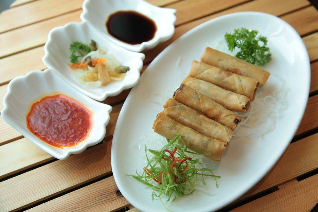 rouleaux de printemps, cuisine chinoise, nourriture chinoise