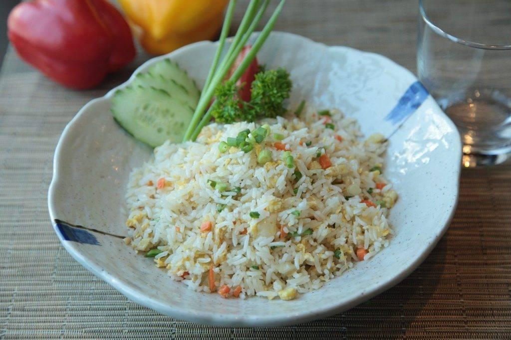 riz frit, exotique, alimentaire