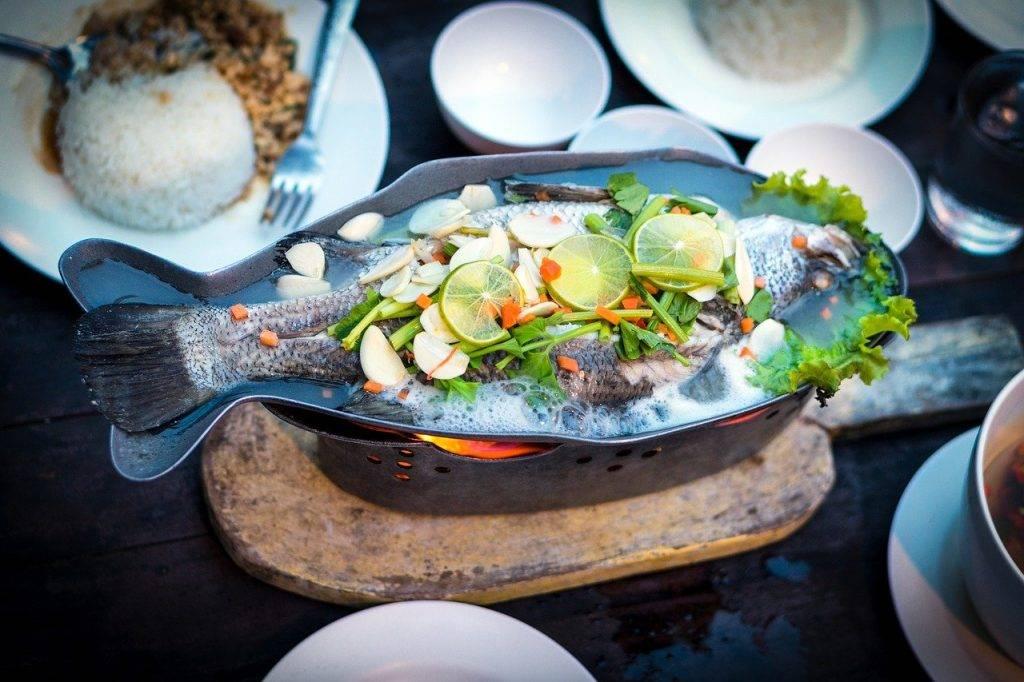 poissons, alimentaire, thaï