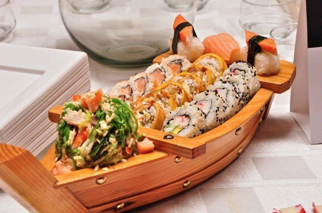 alimentaire, sushi, bateau