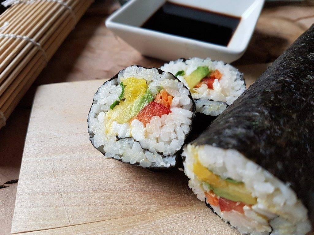 sushi, riz, oeuf
