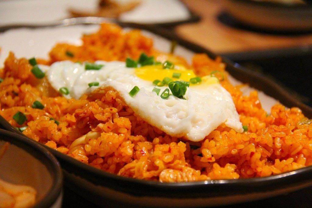 riz frit au kimchi, riz frit, riz