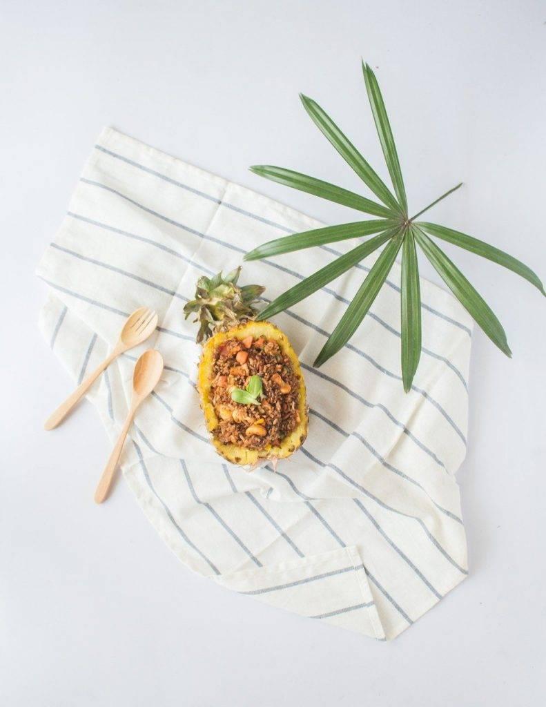 alimentaire, ananas, en bonne santé