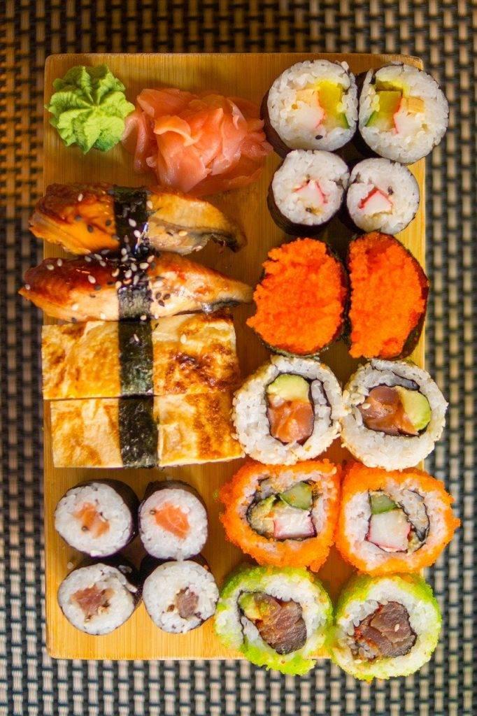 sushi, riz, alimentaire