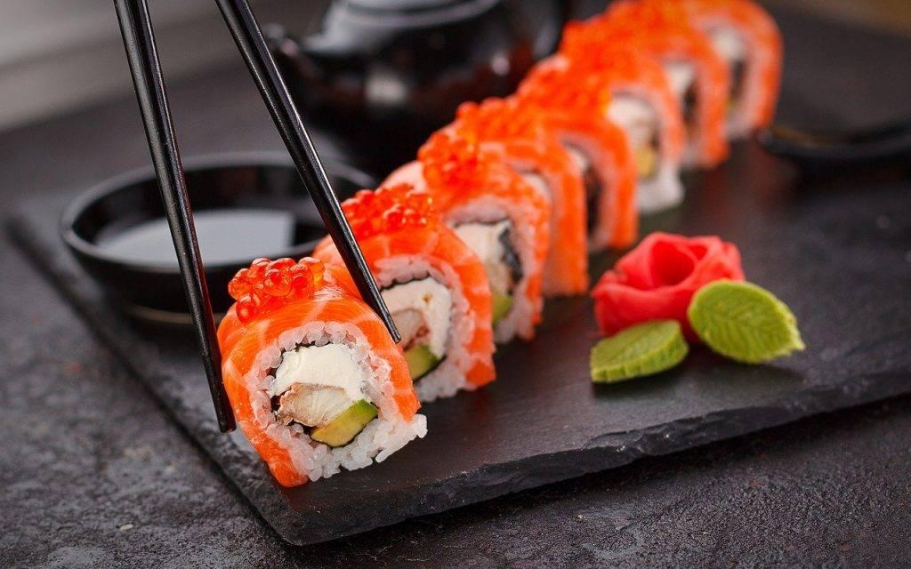 sushi, japonnais, assiette
