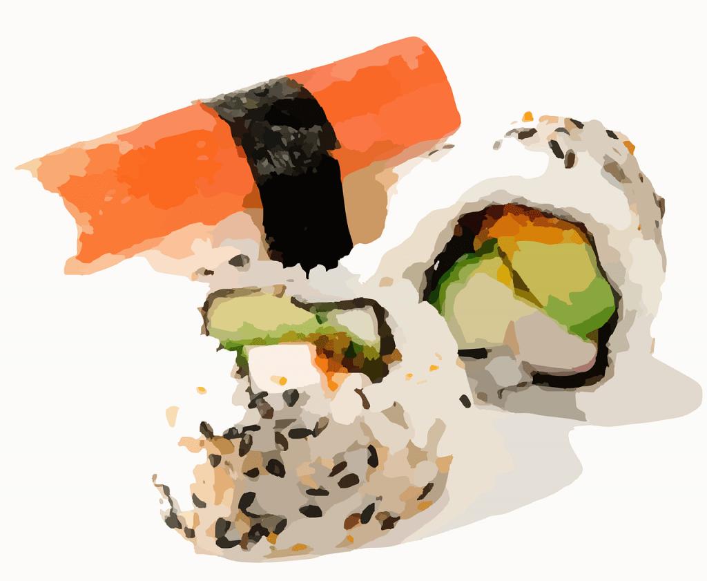 sushi, rouleau de sushi, riz