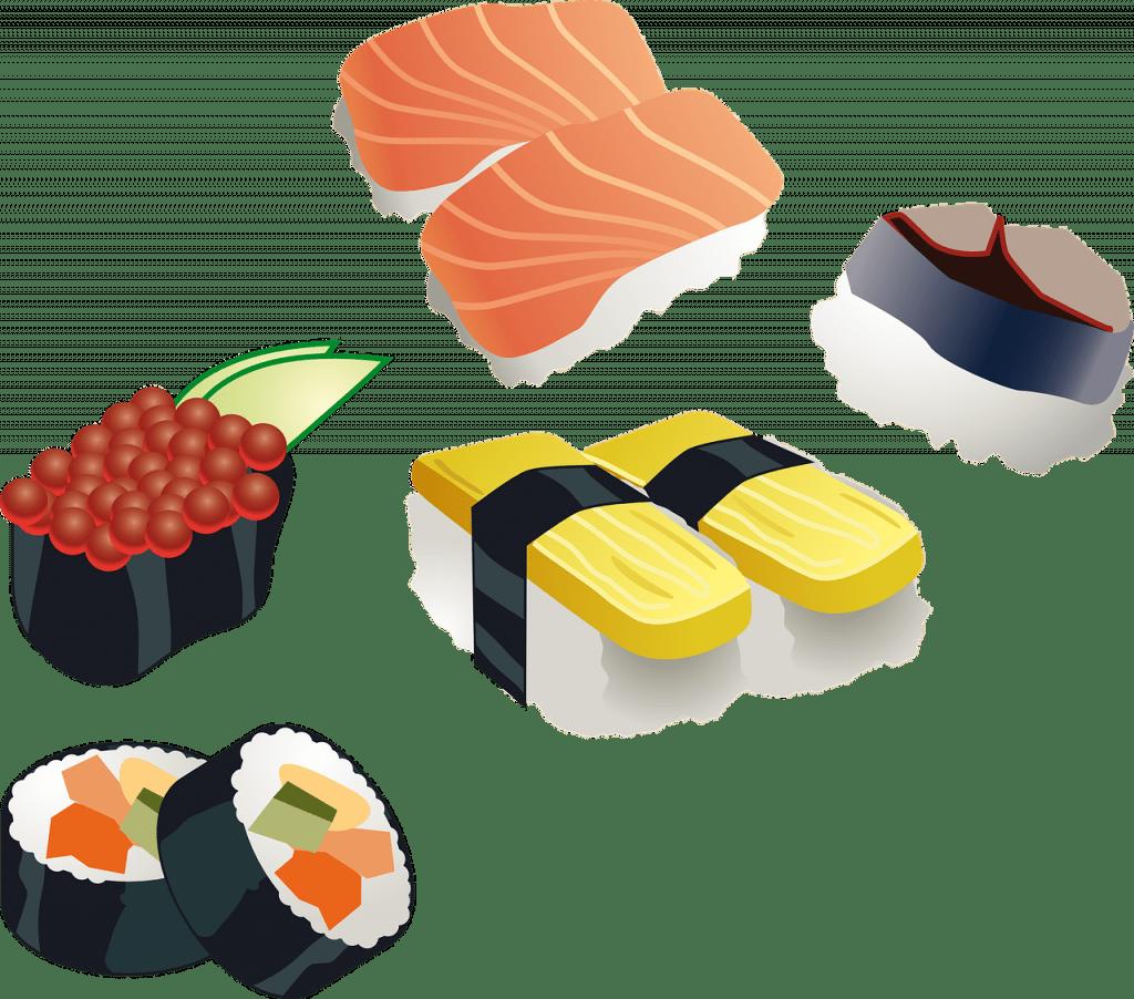sushi, rouleau de sushi, japonais