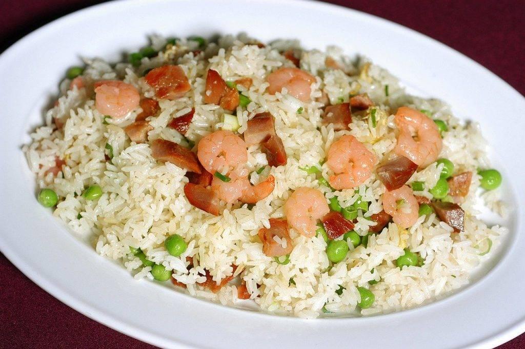 riz frit, chinois, asie
