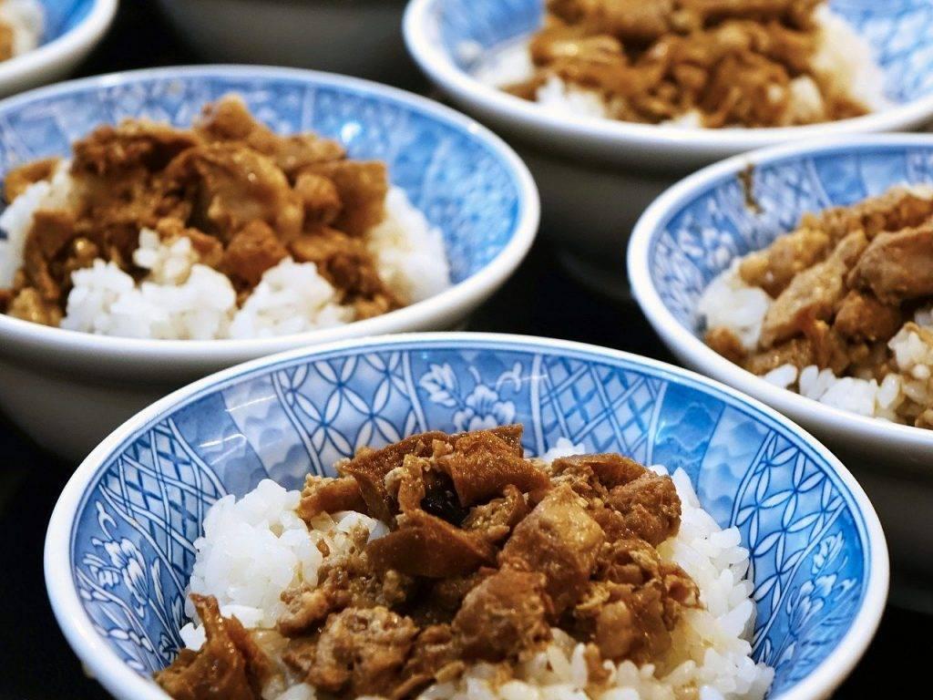 cuisine taïwanaise, 鲁 肉 饭, riz porc braisé