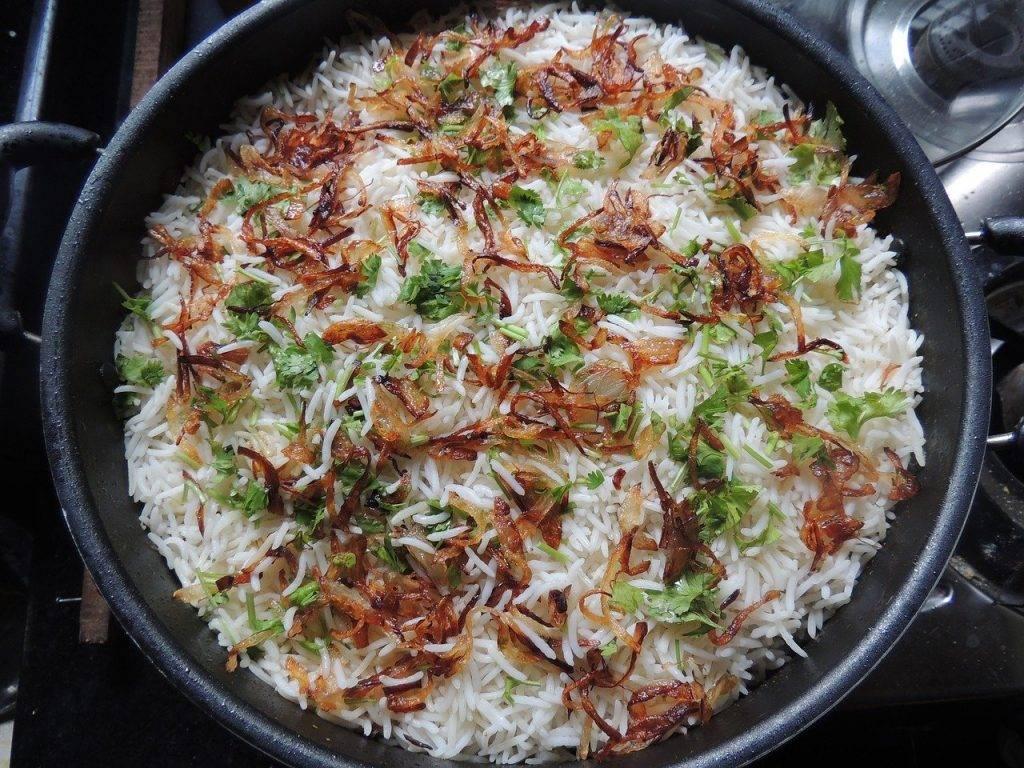 biryani, riz, alimentaire