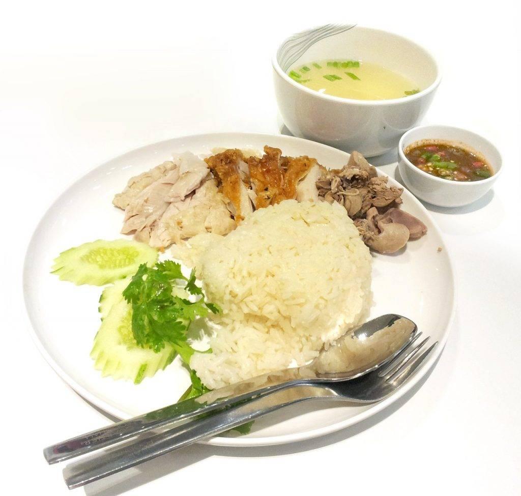 alimentaire, poulet, le déjeuner