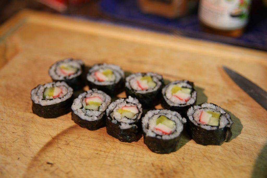 sushi, alimentaire, japonais