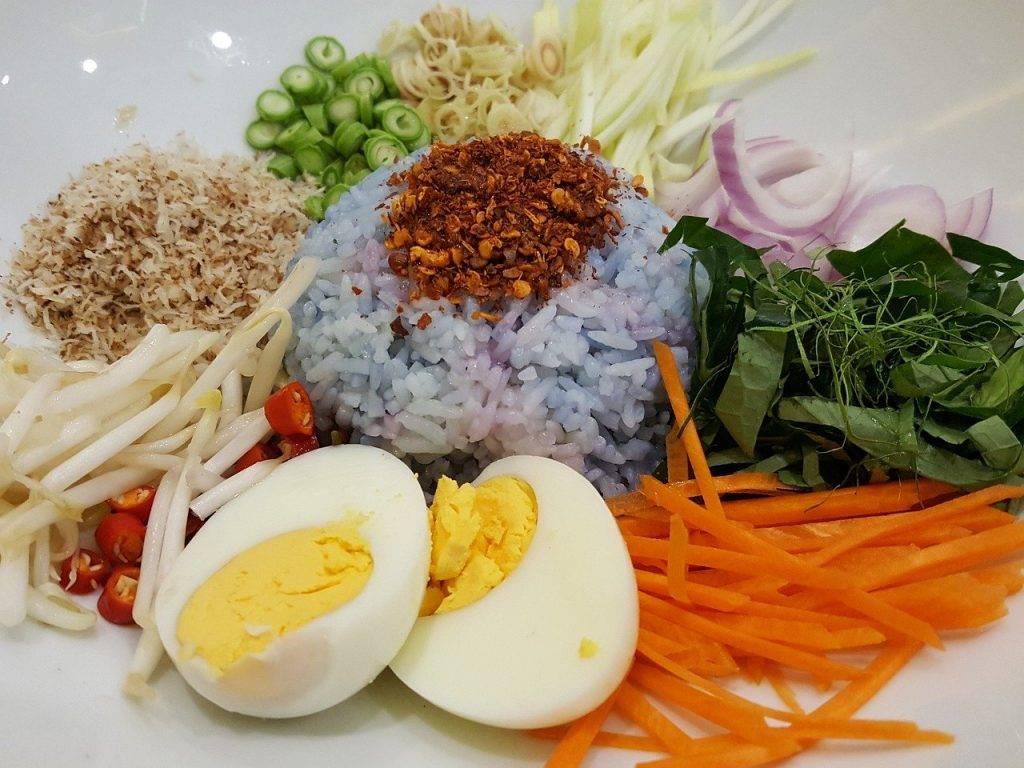 nourriture sud thai, cuisine thaïlandaise, riz