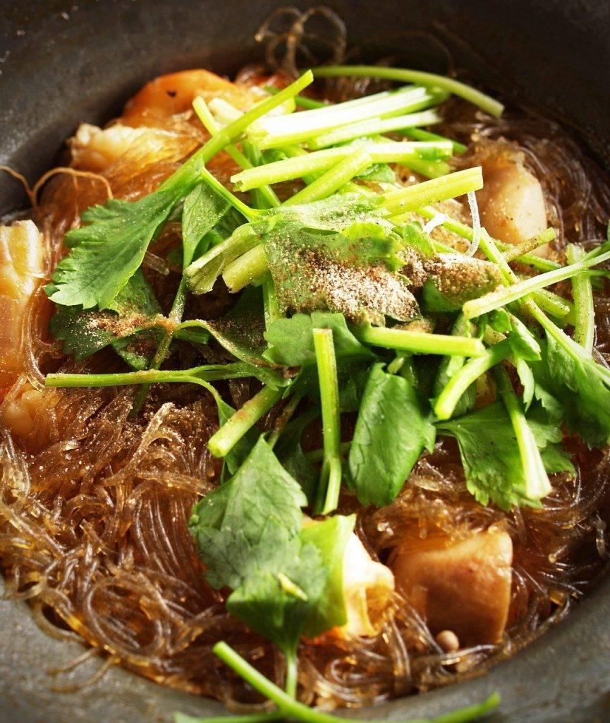 alimentaire, thaï, poulet