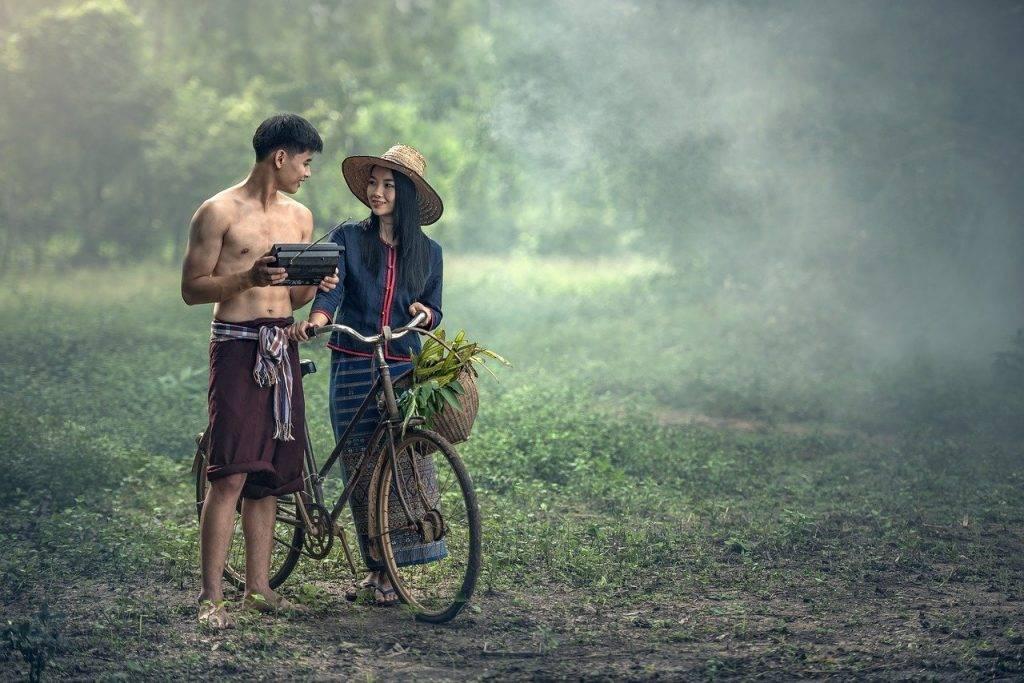 adulte, agriculture, bike