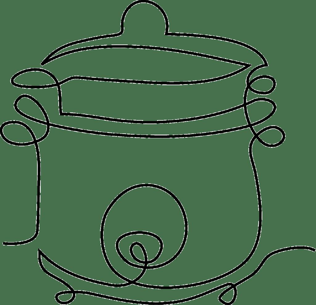 autocuiseur, alimentaire, clipart