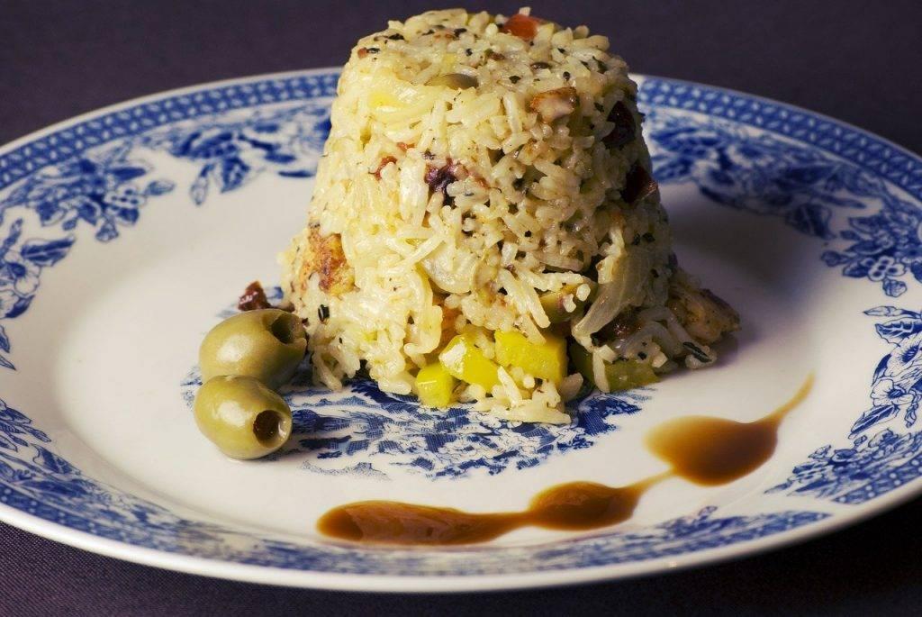 poulet riz frit, alimentaire, le déjeuner