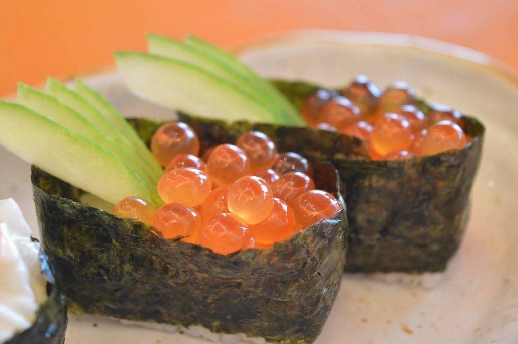 sushi, japonais, alimentaire