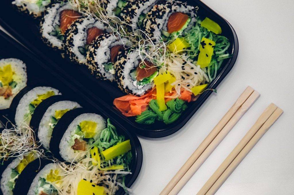 sushi, alimentaire, poissons