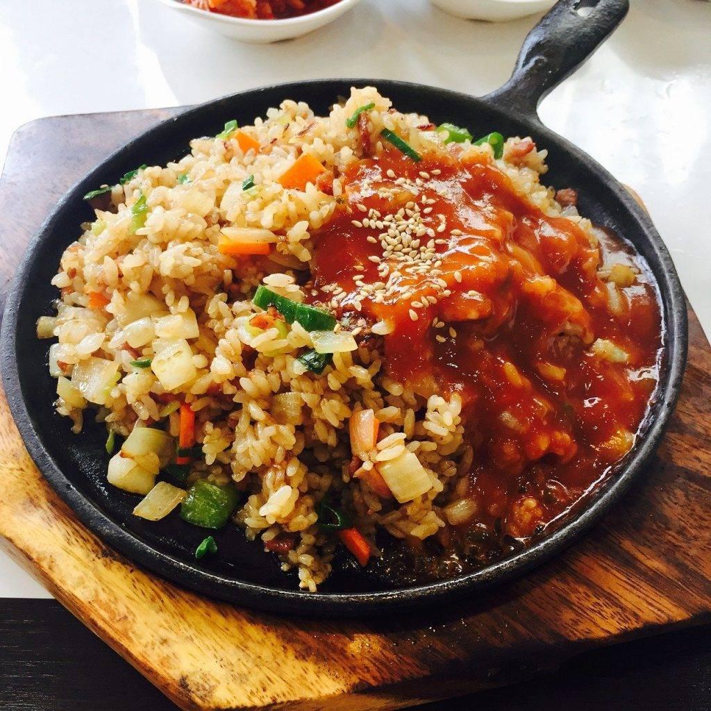 riz frit, bob, coréen
