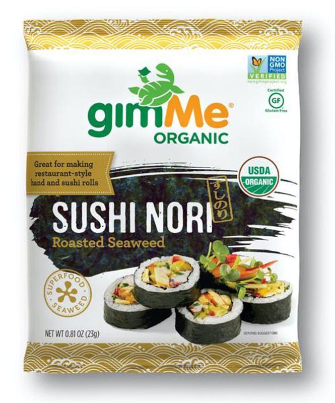 GimMe Snacks Sushi Nori Feuilles