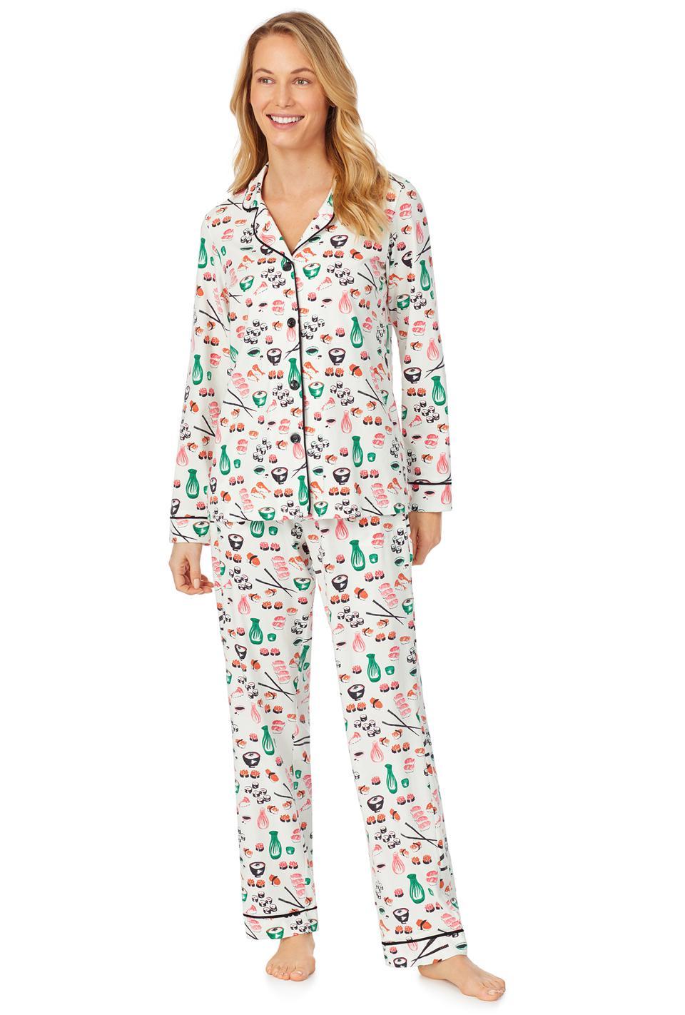Pyjama de tête de lit Ensemble pyjama en jersey stretch classique à manches longues Sushi