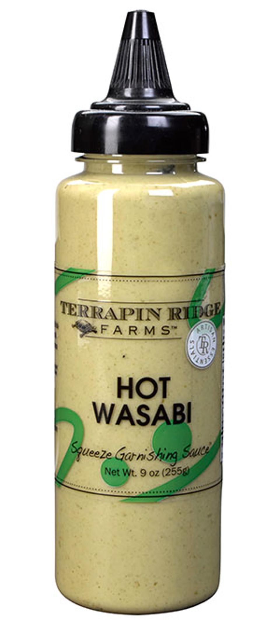 Squeeze de garniture au wasabi chaud